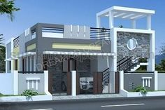 Best house front facade ideas ideas The cost reach of the Apartment was amazing. House Front Wall Design, Single Floor House Design, House Outside Design, Village House Design, Kerala House Design, Bungalow House Design, Small House Design, Modern House Design, Floor Design