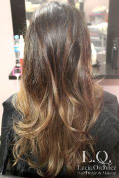 ómbre hair degradado balayage technique mechas californianas