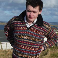 #New! Zippered neck authentic, hand-knit #FairIsle pullover from Shetland and Rosabell Halcrow. Also available dyed with naturally occurring plants by hand, then hand spun (yes on a spinning wheel) add 45% supplement. Drop us a note. £525.00