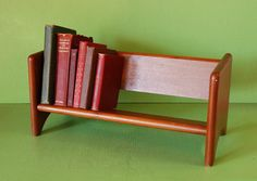Wooden Book Shelf, Vintage Book Rack, Book Stand, Bookcase