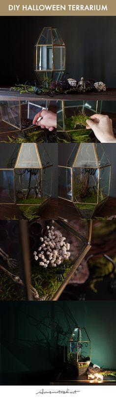 DIY Halloween Terrarium Tutorial #DIY #Halloween