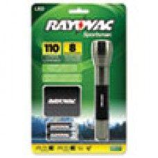 Hand Tool> Cutting Tool: Sportsman Flashlight, Holster, Machined Aluminum/Metallic Sage, 2 AA Batteries