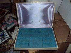 Vintage MELE Jewelry Box Hard Shell Case Travel Hinged