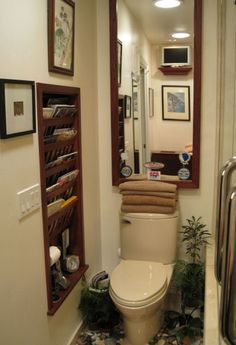 Picture Of Bathroom With Magazine Holder In Wall | Bathroom Magazine Holder  | Shower Remodel