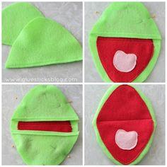 Kermit hand puppets DIY