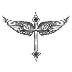 Beaitiful Cross With Wings Tattoo Design Cross Tattoos Tribal cross tattoo designs - Tattoos And Body Art Unique Cross Tattoos, Tribal Cross Tattoos, Celtic Cross Tattoos, Cross With Wings Tattoo, Cross Tattoo For Men, Trendy Tattoos, Tattoos For Guys, Tattoos For Women, Stylish Tattoo