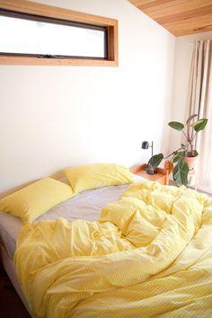Aesthetic room decor bamboo sheets like sleeping on clouds yellow comforter bedroom decor bedroom aesthetic bedroom Coastal Master Bedroom, Gray Bedroom, Bedroom Colors, Home Decor Bedroom, Bedroom Ideas, Bedroom Yellow, Bedroom Rustic, Decor Room, Teen Bedroom