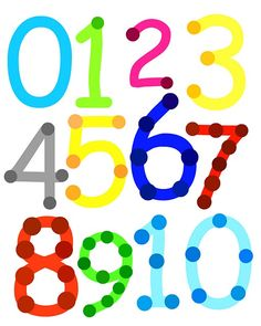 Touch Math! Print and put cotton balls on each touch point as they count aloud to reinforce one-to-one correspondence