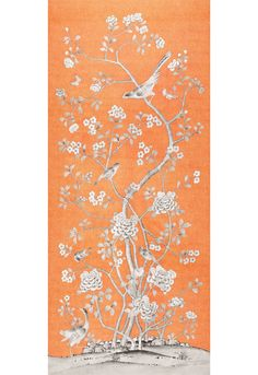 F. Schumacher Chinois Palais-Tangerine 175044 Interior Decor Fabric -