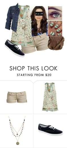 """Another Spring Look"" by kennidicole ❤ liked on Polyvore featuring Wet Seal, Anna Sui, Alicia Marilyn Designs, Levi's, Keds and Lucky Brand"