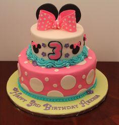 Birthday cake for 3 year old Akeria.