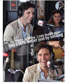 Mika smiles