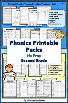 Do you teach Fundations in Grade and need more supplemental materials to help support your teaching? This bundle pack supports Level 2 Units 1 - A whole year of printables! These are great printables for word work, homework, or extra practice Teaching Phonics, Math Literacy, Help Teaching, Making Words, 2nd Grade Classroom, Second Grade Math, Learning Centers, Word Work, Homework