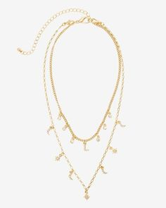 Women's Initial Charm Necklace L by WHBM