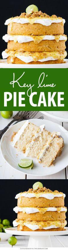 Key Lime Pie Cake | by Olivia Bogacki for TheCakeBlog.com