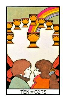 December 23 Tarot Card: Ten of Cups (Aquarian deck) There are so many reasons to feel good right now ~ remember to stop and soak in these energies of optimism and togetherness