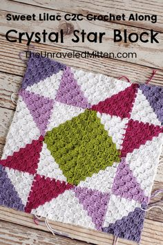 Corner to Corner Quilt Square Throw Blanket Crochet Along Crochet Squares Afghan, Crochet Square Patterns, C2c Crochet, Crochet Quilt, Crochet Blocks, Crochet Blanket Patterns, Crochet Stitches, Crochet Blankets, Granny Squares
