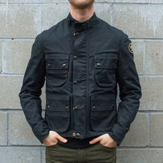 <?php echo $this->htmlEscape($_product->getName()) ?>  Vanson Dover Black Waxed Canvas Jacket