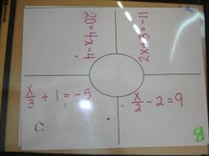 Good group activities for practicing one, two, and multiple step equations