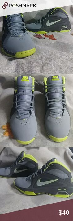 Nike Air Vista Pro 3 Beautiful Nike sneakers Grey lime yellow and silver colors. darker grey and light grey suede . tongue is mesh .very comfortable very light weight. 9 1/2 out of 10 condition size 13 100% authentic Nike Shoes Sneakers