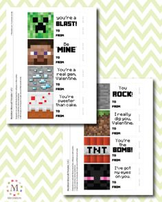 1000 images about valentines on pinterest minecraft qr for Minecraft bookmark template