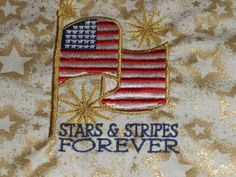 "Quilts of Valor 10"" embroidered square"