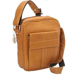 David King  Co Deluxe Medium Size Messenger with Flap Tan One Size -- Details can be found by clicking on the image.