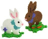 Spring Bunnies Designed By The Perler Design Team You'll have fun creating these cute Spring Bunnies on the new bunny pegboard from Perler. Great for Easter!