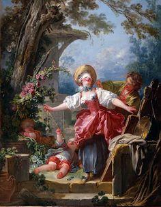 Blind-Man's Buff, Jean-Honoré Fragonard 1750 - 1752