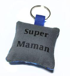 cadeau maman fête des mères : porte-clé personnalisé en tissu : Porte clés par kipapee