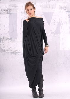 Vestido negro / flojo vestido / túnica vestido por urbanmood