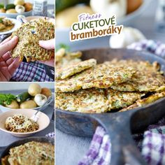 Fitness bramboráky - dietní recept Bajola Broccoli, Spinach, Vegetable Recipes, Veggie Meals, Cauliflower, Zucchini, Food And Drink, Pumpkin, Stuffed Peppers