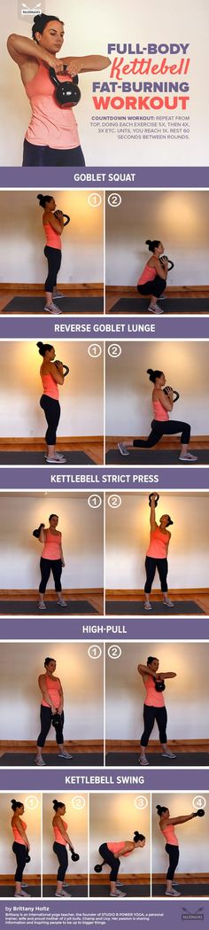 Full-Body Kettlebell Fat-Burning Workout For #health, #recipes, #free challenge groups, go to my website or message me… www.Beachbodycoach.com/mrdunn24  https://www.facebook.com/melissa.shofrothdunn