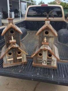 Rustic Triple Nesting Birdhouse