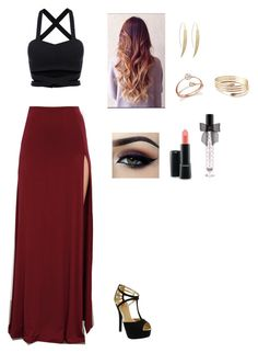 """""""Untitled #312"""" by cristina-974 on Polyvore featuring Red Circle, Bloomingdale's, Victoria's Secret, MAC Cosmetics and Ardell"""