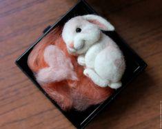 Купить Зайкины сны (игрушка валяная, заяц) - заяц, зайчик, валяный заяц, кролик