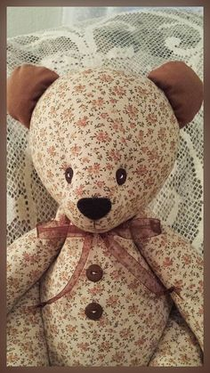Jointed Patchwork Teddy Bear  Country Brown & by victoriancrafts