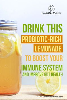 This recipe combines the great taste of fresh lemonade with a healthy dose of probiotics.