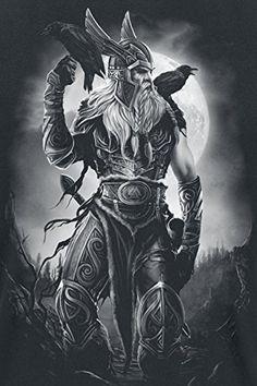 Toxic Angel Odin T-Shirt schwarz M