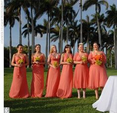 Coral Wedding Ideas and Inspirations.