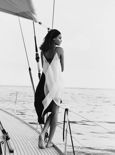 A girl on a yacht - more on www.murraymitchell.com