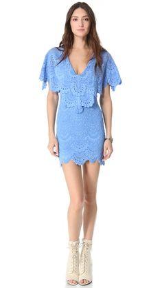 Nightcap Clothing Spanish Lace Poncho Dress