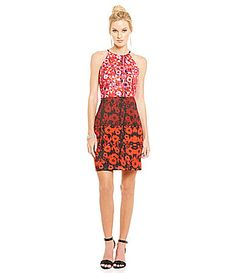 Belle Badgley Mischka Printed Sailor Halter Dress #Dillards