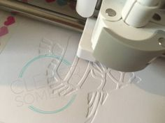 Flat embossing with a Cricut Explore or Maker