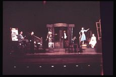 Nov 1964 Six Characters in Search of an Author, directed by Sir Tyrone Guthrie in Scott Hall.