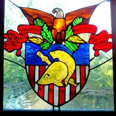 West Point - US Military Academy Crest stained glass