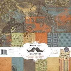Kaisercraft - Sears and Son Collection - 12 x 12 Paper Pack at Scrapbook.com $10.79