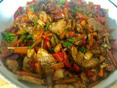Wieprzowina po chińsku - Blog z apetytem Kung Pao Chicken, Ratatouille, Wok, Chinese, Ethnic Recipes, Chinese Language