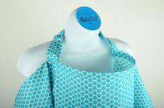 Nursing Cover  polka dots  blue by StitchdByLNZ on Etsy, $24.00