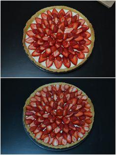 Tarte au fromage blanc et aux fraises